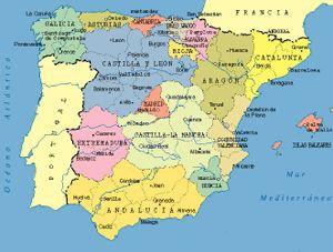 Cartina Spagna Galizia.Spagna Cartina Politica